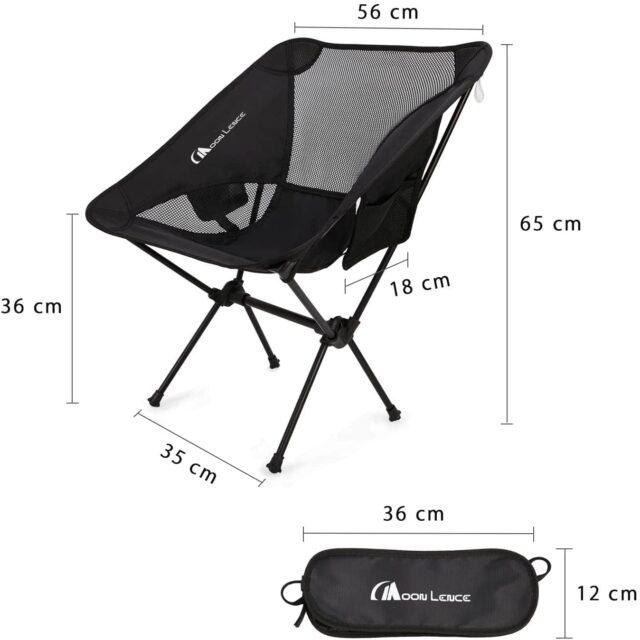 キャンプ初心者用の折りたたみ椅子。チェア