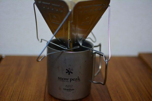 フォールディングコーヒードリッパーでコーヒー抽出