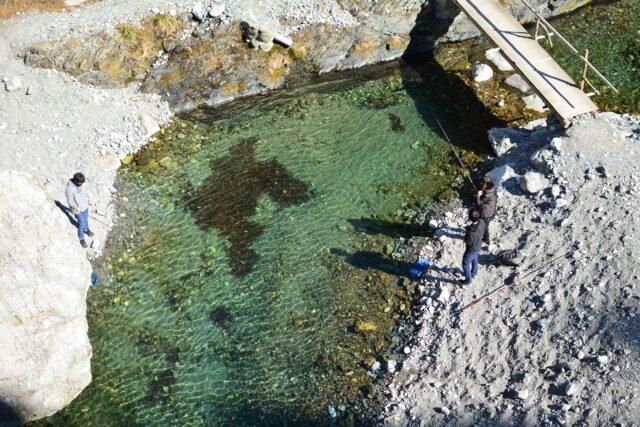 氷川キャンプ場の近くにある管理釣り場