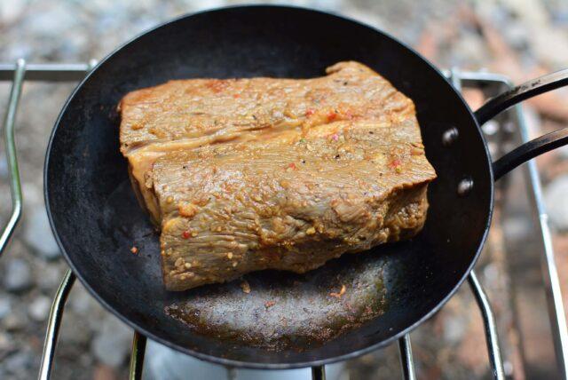 ちびパンレシピ,キャンプめしのローストビーフ