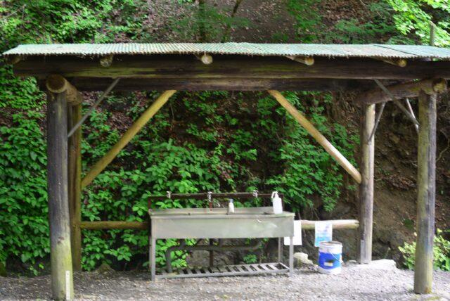 玉川キャンプ村の炊事場
