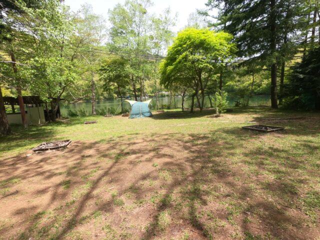 四尾連湖キャンプ場キャンプサイト