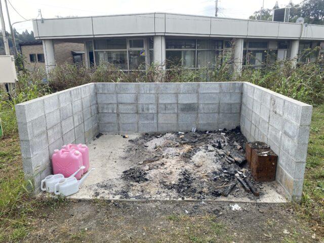 成田スカイウェイBBQのゴミ捨て場