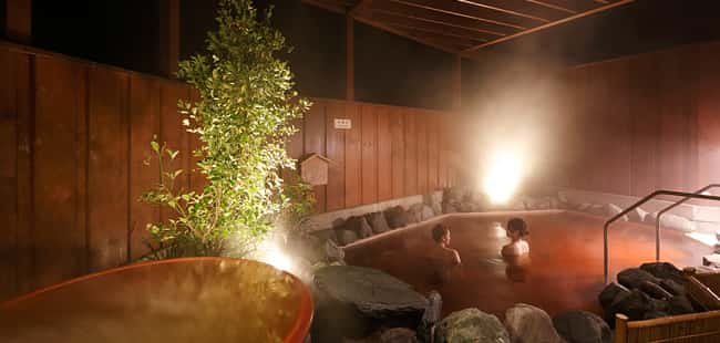 成田スカイウェイBBQの温泉